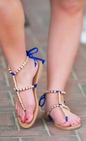 Summer Nights Dream Sandal  -  Royal Blue