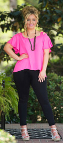 The Sylvia Top  -  Hot Pink