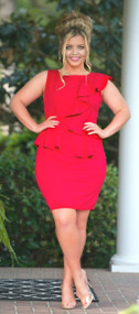 In The Limelight Dress - Red***FINAL SALE***