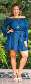 Sweeter Than Honey Romper - Denim
