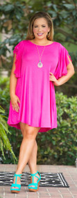 Meet Me In Belize Dress / Tunic - Fushia