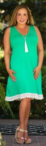 Living Out Loud Dress - Kelly Green***FINAL SALE***
