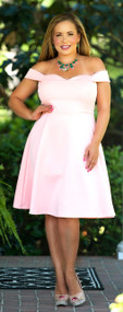 The Hunt Is Over Dress - Peach***FINAL SALE***