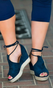 Palm Beach Perfect Wedge - Navy***FINAL SALE***