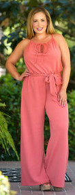 Run Around Jane Jumpsuit  -  Terracotta