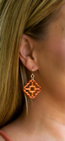 Make Your Mark Earring - Terracotta