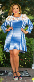 Nautical Notions Dress - Blue & White