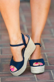 Suite Retreat Wedge - Navy