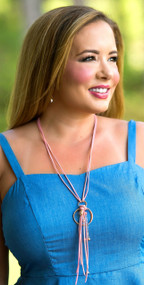 In The Loop Necklace - Pink***FINAL SALE***