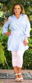 Style Me Stunning Dress / Tunic - Blue & White***FINAL SALE***