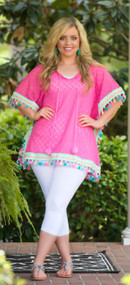 Carribean Dreams Tunic  - Fuschia***FINAL SALE***