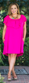 Let's Do Brunch Dress / Tunic - Fuchsia
