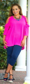 Hot To Trot Top - Hot Pink***FINAL SALE***