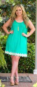 Making Waves Dress - Emerald