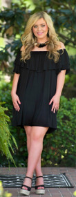 Let's Do Brunch Dress - Black