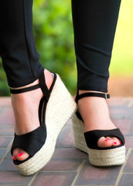 Suite Retreat Wedge - Black***FINAL SALE***