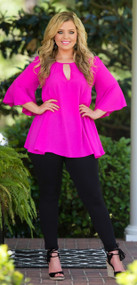 Pacific Palisades Tunic - Magenta ***FINAL SALE***