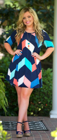 Point Me In The Right Direction Dress - Navy