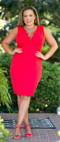 Fiery Fiesta Dress - Coral
