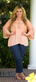 Top Of The Class Top - Apricot***FINAL SALE***