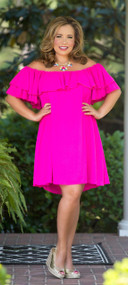 Summer Sizzle Dress - Hot Pink