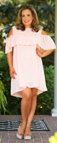 Sashay My Way Dress - Peach