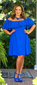 Summer Sizzle Dress - Royal Blue