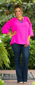 Pink Happy Thoughts Top - Hot Pink