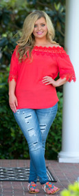 Canyon Coral Top - Coral