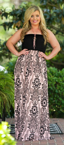Soul Mate Maxi  -  Black & Peach