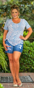 Going Overboard Distressed Short