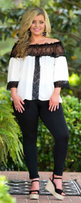 An Elegant Night Top - White & Black
