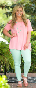 Pool Service Tunic - Peach