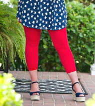 Luxury Awaits Capri Legging - Red