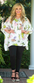 Leaf It To Me Top - White