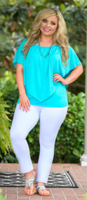 Waters Edge Top - Aqua