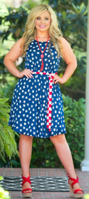 Land Of The Free Dress - Navy & Red