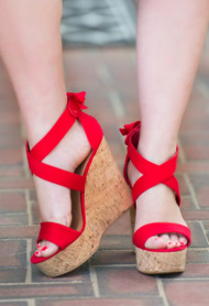 Red Crush Wedge***FINAL SALE***