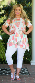 Let's Go Dutch Tunic - Coral & Mint
