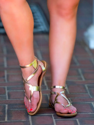 Go For The Gold Sandal