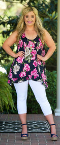 Beauty In Bloom Top - Navy
