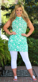 Wave Goodbye Tunic - Mint
