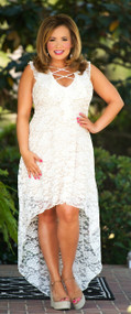 Never Forget You Lace Dress- Cream