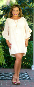 Lounge Lover Dress / Tunic - Light Peach***FINAL SALE***