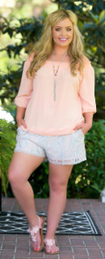 Sweet Peach Top***FINAL SALE***