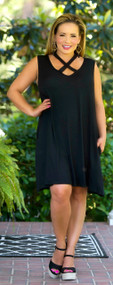 Cross Country Dress - Black