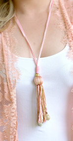 Final Touch Necklace - Peach
