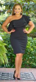Charming Statement Dress - Black