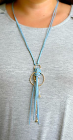In The Loop Necklace - Blue