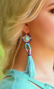 Divine Intervention Earring - Blue